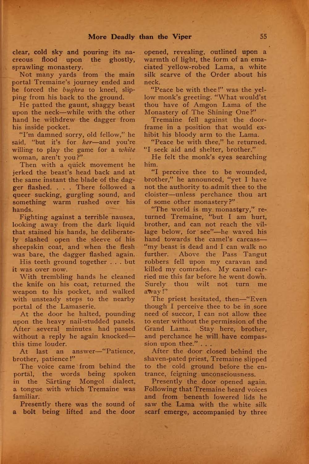 The black mask vol 1 no 5 august 1920 ed by f m osbourne view facsimile more deadly than the viper 55 fandeluxe Images
