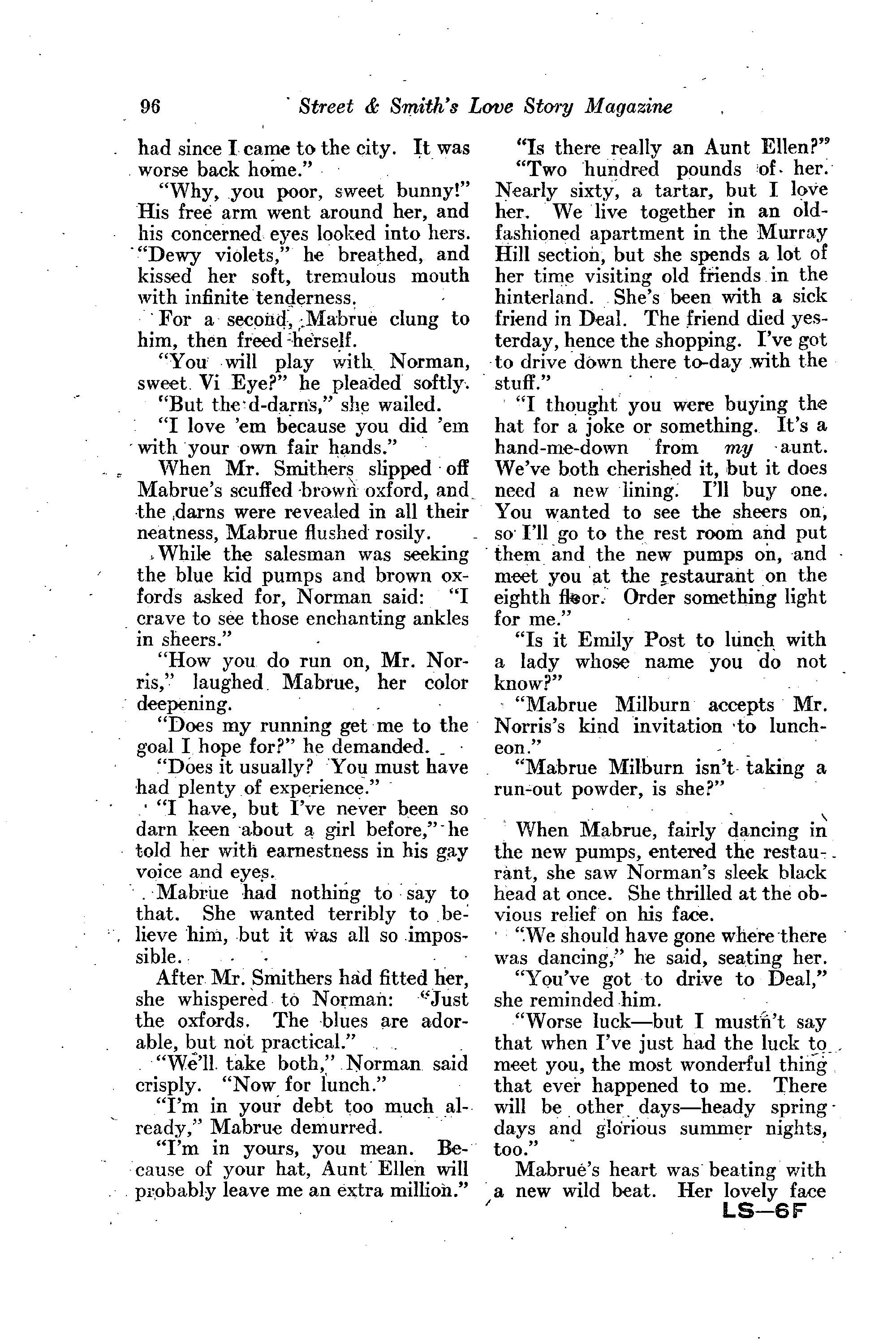 Love Story Magazine Vol XIV No 6 March 30 1935 ed by Daisy – Testable Questions Worksheet